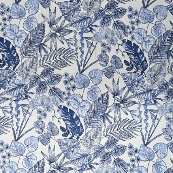 Material textil entru exterior Bouquet Indigo