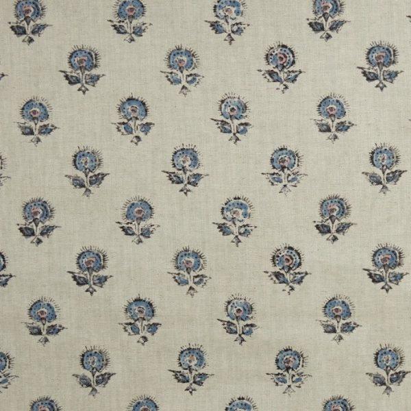 Material textil cu model floral de mici dimensiuni Konkani 5