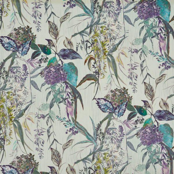 Material tapiterie cu design floral Botanist Evergreen