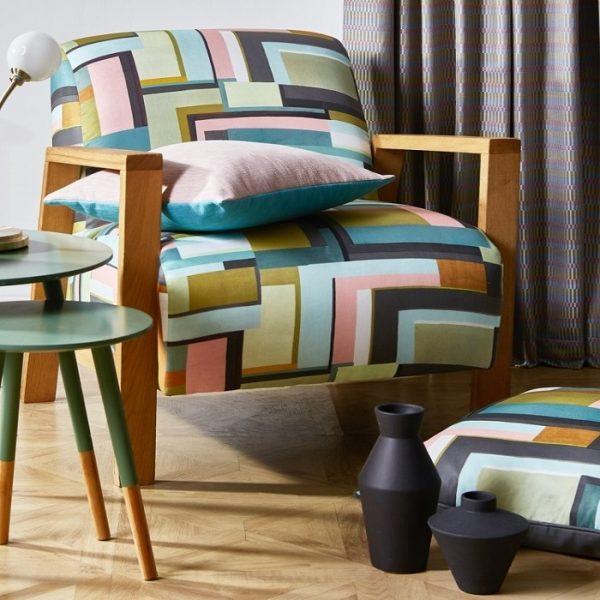 Material textil cu design deosebit Astaire Jade