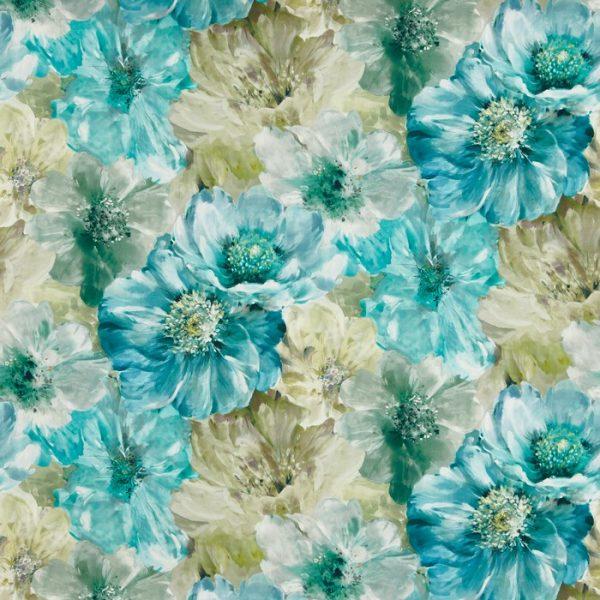 Draperii design floral Lani Ocean