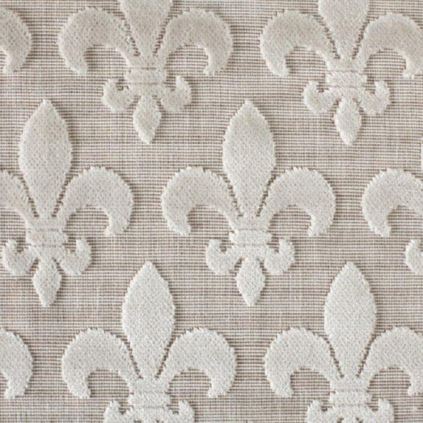Material textil pentru tapiterie model clasic Fleurs de Lis Natur