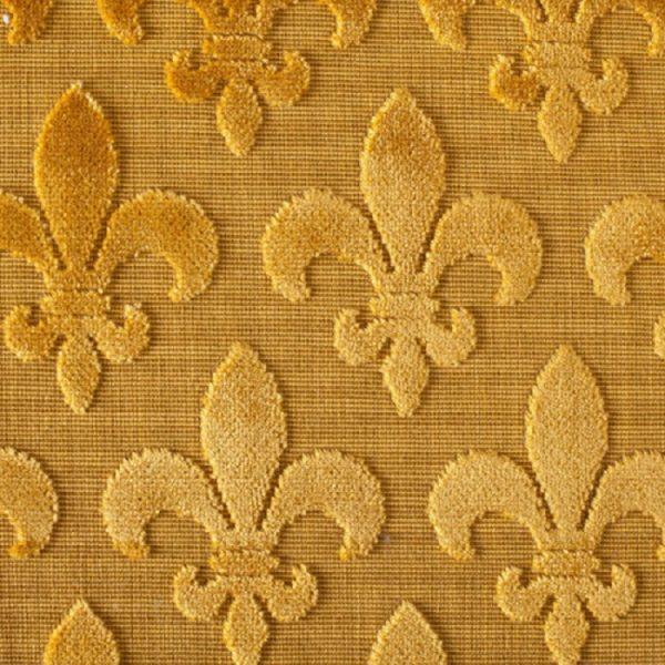 Material textil pentru tapiterie model clasic Fleurs de Lis Oro