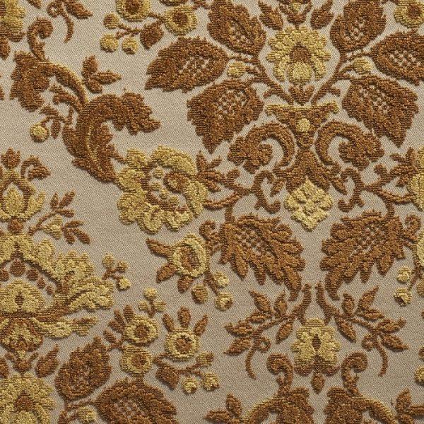 Catifea jacquard pentru tapiterie Blois Cognac