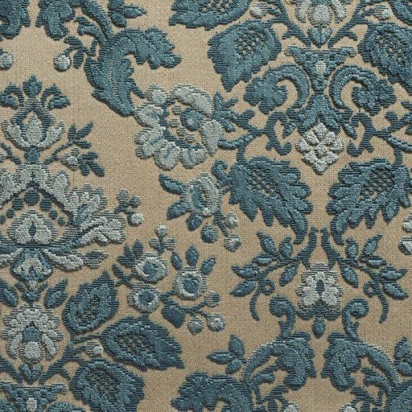 Catifea jacquard pentru tapiterie Blois Bleu