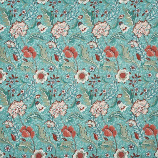 Material textil floral pentru tapiterie Folklore Peppermint