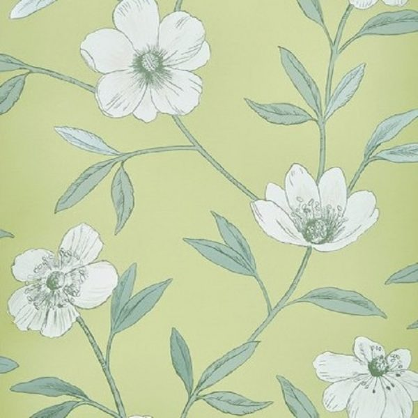 Tapet floral Avery Gooseberry