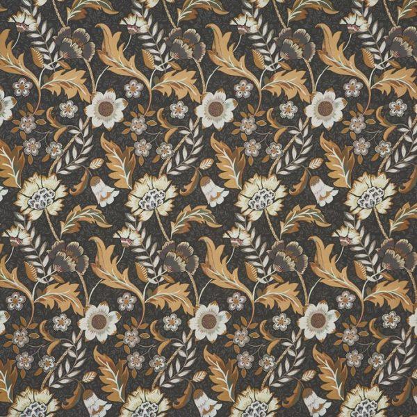 Material textil floral pentru tapiterie Folklore Peppercorn