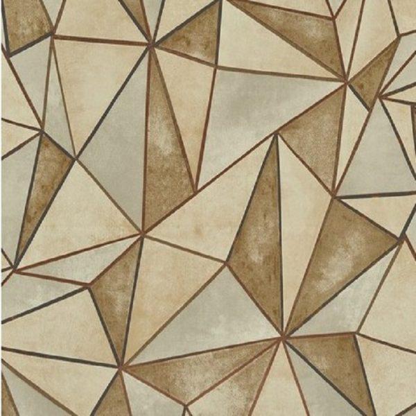 Tapet forme geometrice Shard Gilded