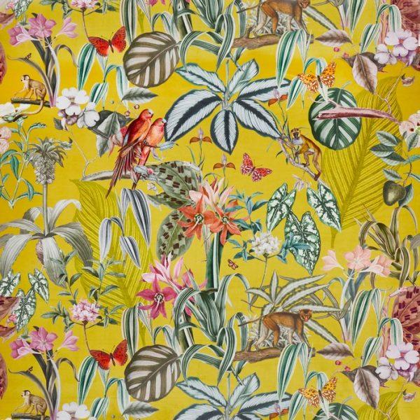 Catifea imprimata design tropical Barbados Citron