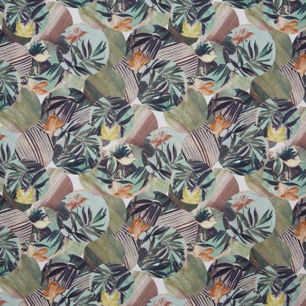 Material textil cu design floral Osaka Green Tea