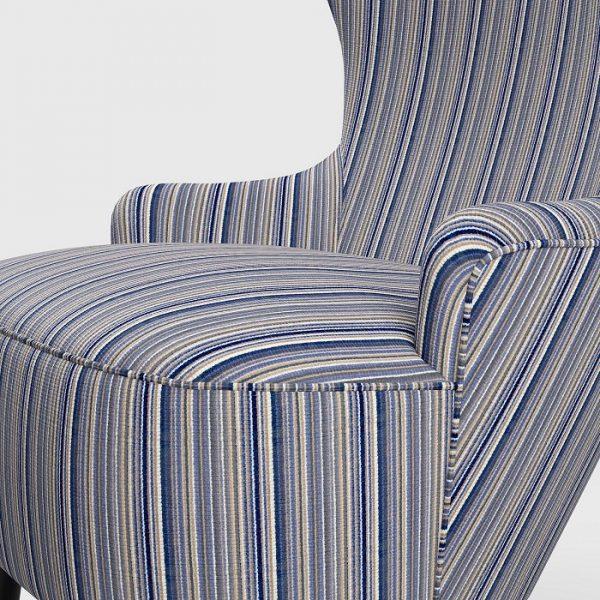 Material textil cu dungi pentru tapiterie Bingo 12 (FibreGuard)