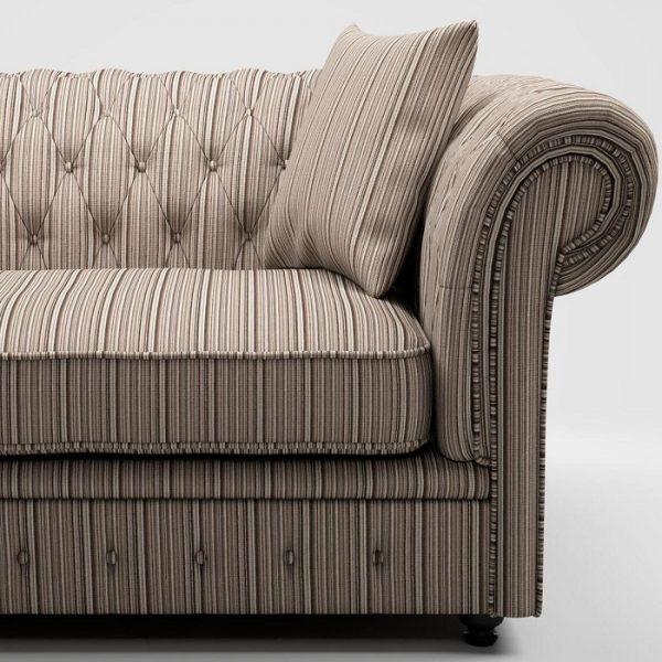 Material textil cu dungi pentu tapiterie Bingo 17 (FibreGuard)